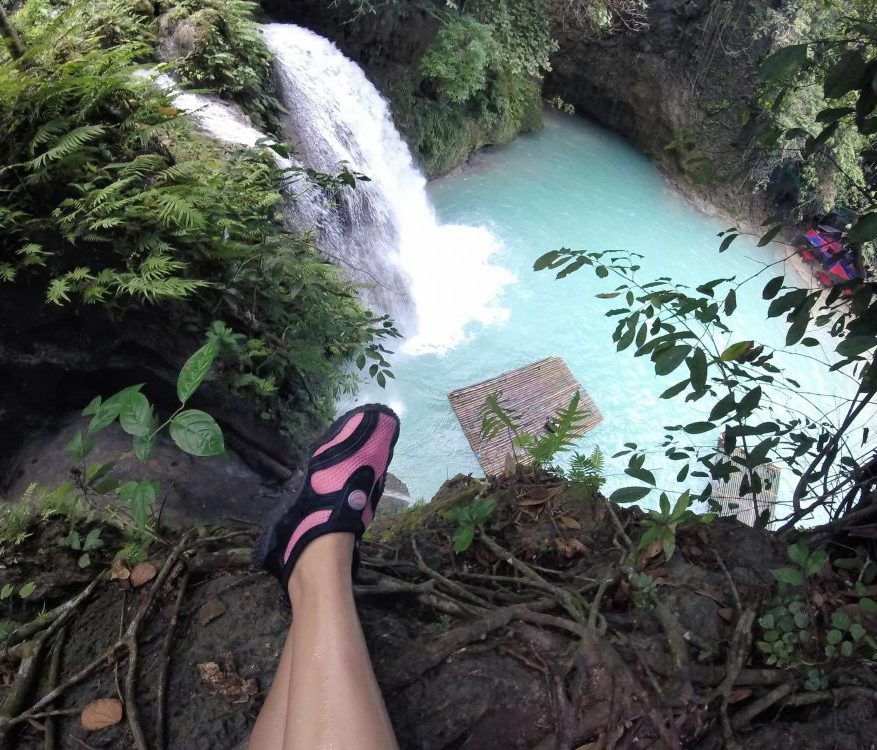 water shoes waterfall cebu