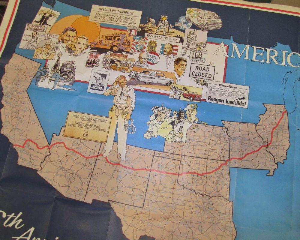 Route 66 map roadtrip